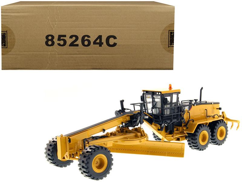 CAT Caterpillar 24M Motor Grader with Operator Core Classics Series 1/50 Diecast Model Diecast Masters 85264 C