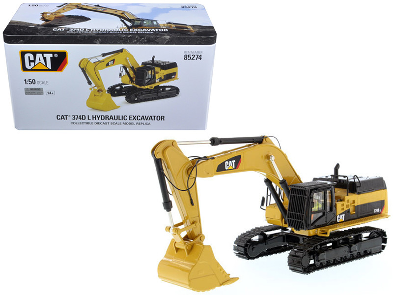 CAT Caterpillar 374D L Hydraulic Excavator Operator High Line Series 1/50 Diecast Model Diecast Masters 85274