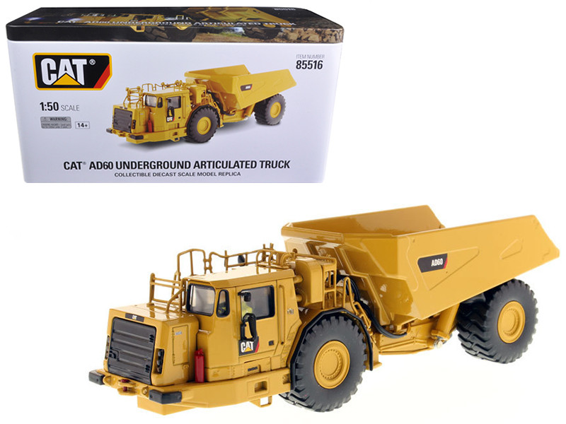 CAT Caterpillar AD60 Articulated Underground Truck with Operator High Line Series 1/50 Diecast Model Diecast Masters 85516