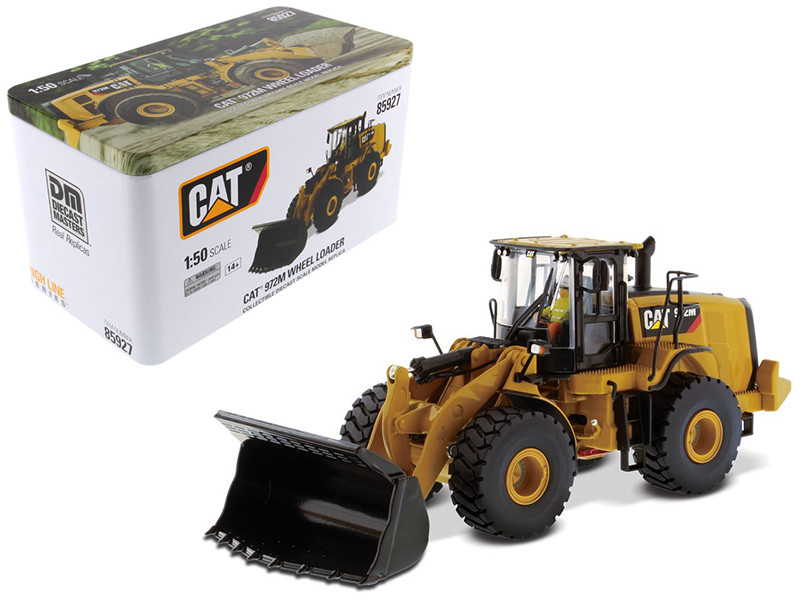 CAT Caterpillar 972M Wheel Loader with Operator High Line Series 1/50 Diecast Model Diecast Masters 85927