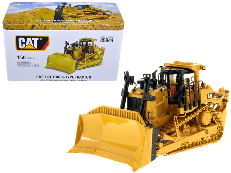Cat Caterpillar D9T Track-Type Tractor with Operator High Line Series 1/50 Diecast Model Diecast Masters 85944
