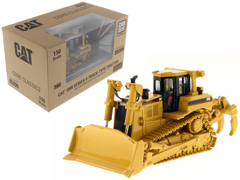 Caterpillar D8R Series II Track Type with Operator 1/50 Diecast Model Diecast Masters 85099