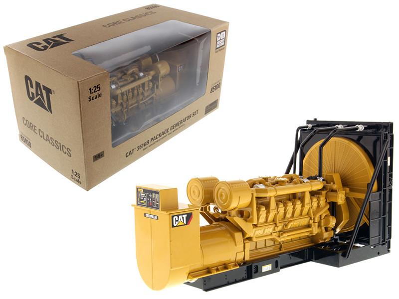 CAT Caterpillar 3516B Engine Generator 3-Piece Set Core Classic Series 1/25 Diecast Model Diecast Masters 85100