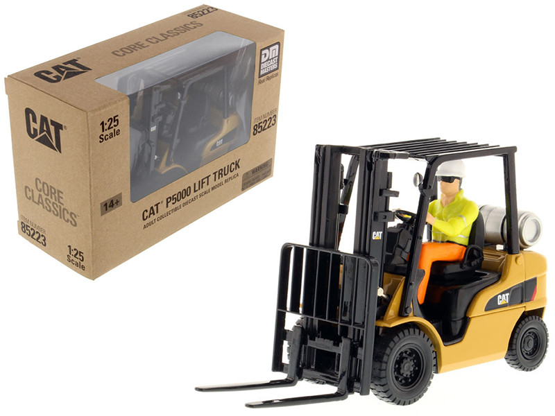 CAT Caterpillar P5000 Lift Truck with Operator 1/25 Diecast Model Diecast Masters 85223 C