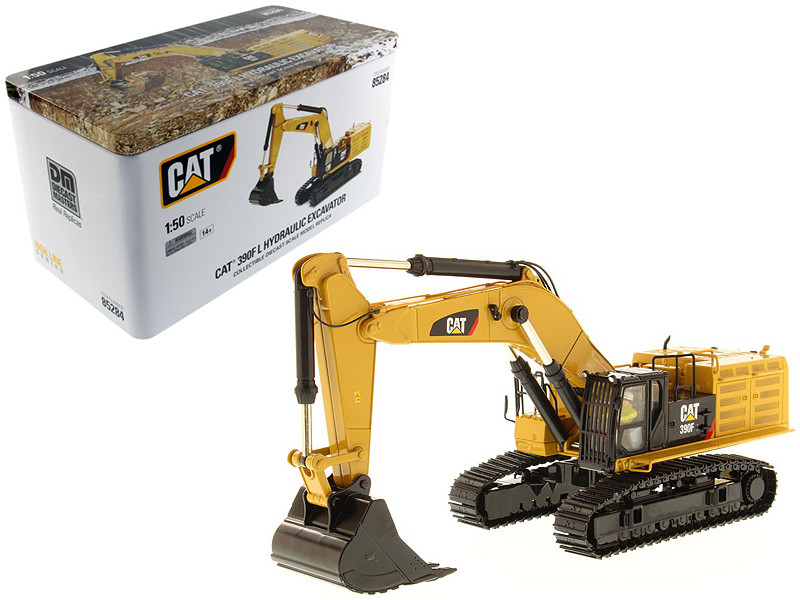 CAT Caterpillar 390F LME Hydraulic Tracked Excavator High Line Series with Operator 1/50 Diecast Model Diecast Masters 85284