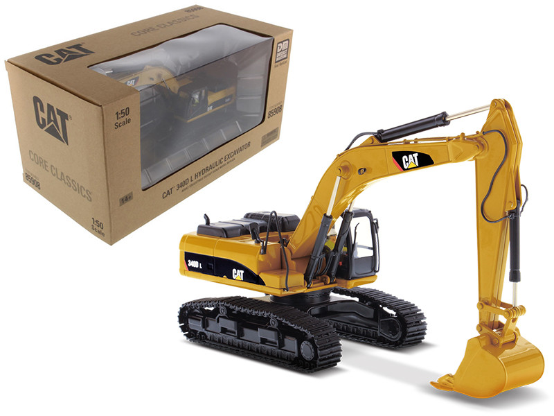CAT Caterpillar 340D L Hydraulic Excavator with Operator Core Classics Series 1/50 Diecast Model Diecast Masters 85908 C