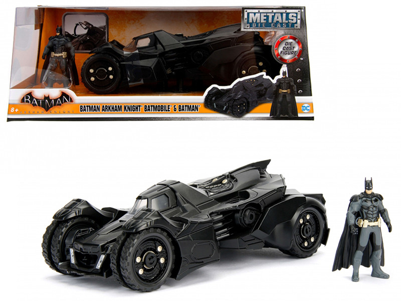 Arkham Knight Batmobile with Batman Diecast Figure 1/24 Diecast Model Car by Jada