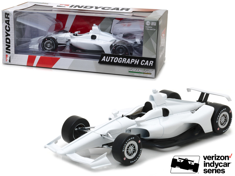 2018 Dallara White Autograph Indy Car Verizon Indycar Series 1/18 Diecast Model Car Greenlight 11034
