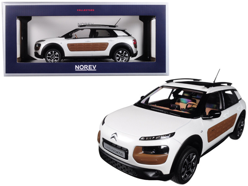 2014 Citroen C4 Cactus Pearl White with Chocolate Airbump 1/18 Diecast Model Car Norev 181651