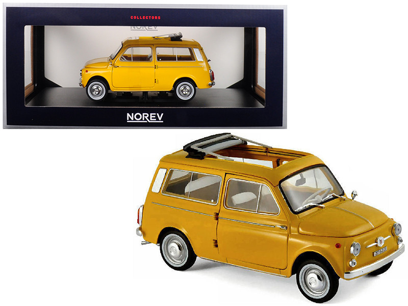 1968 Fiat 500 Giardiniera Positano Yellow 1/18 Diecast Model Car Norev 187724