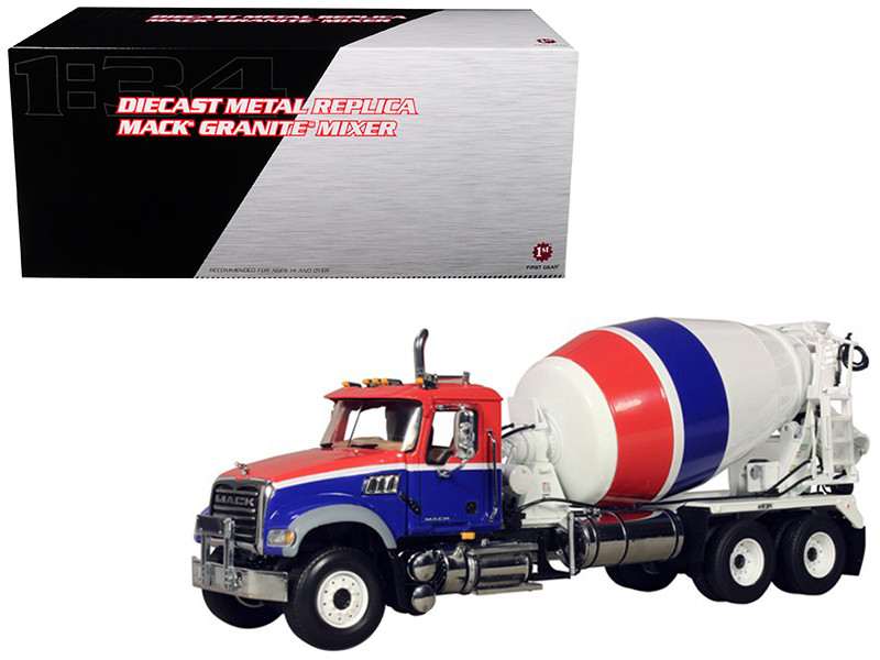 Mack Granite MP Concrete Mixer 1/34 Diecast Car Model First Gear 10-3995