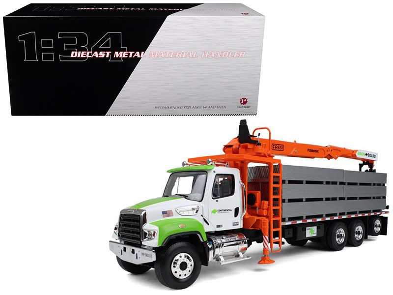 Freightliner M2-114SD Fassi Boom Material Handler with Drywall Load 1/34 Diecast Model by First Gear