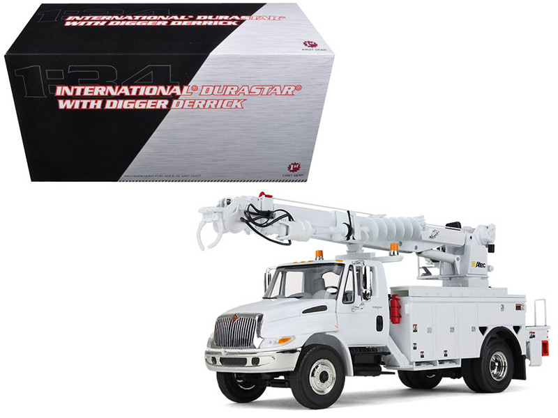 International Durastar with Digger Derrick 1/34 Diecast Model First Gear 10-4053