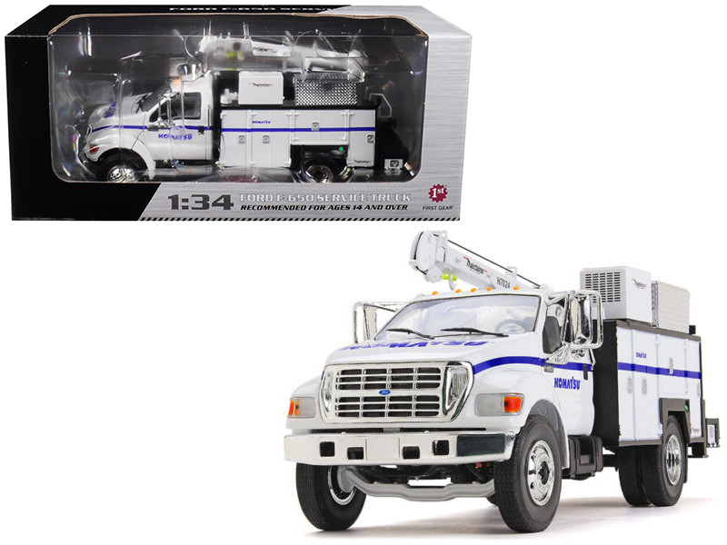 Ford F-650 Komatsu with Maintainer Service Body 1/34 Diecast Model Car First Gear 10-4108