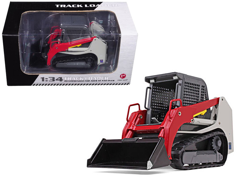 Track Loader Gray Red 1/34 Diecast Model Car First Gear 10-4113