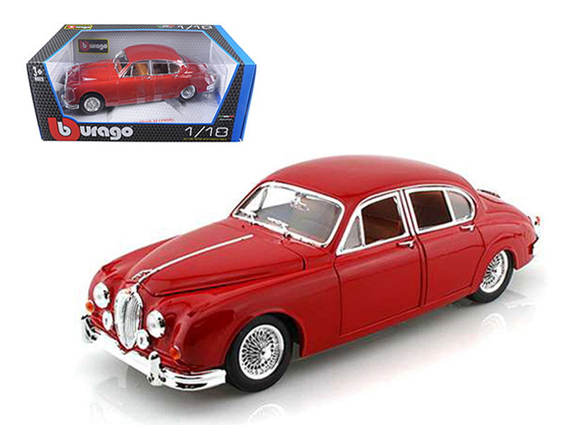1959 Jaguar Mark II Red 1/18 Diecast Car Model Bburago 12009