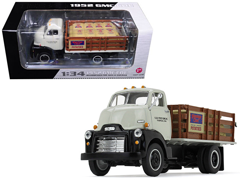 1952 GMC COE Stake Truck with Sack Load K & B Potato Farms Inc. 1/34 Diecast Model by First Gear