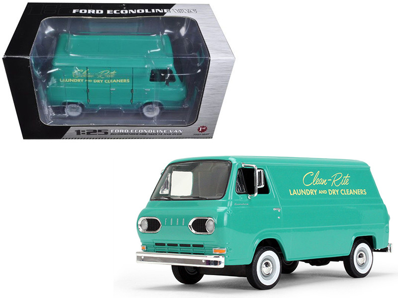 1960's Ford Econoline Van Clean-Rite Laundry and Dry Cleaners 1/25 Diecast Model Car First Gear 49-0399