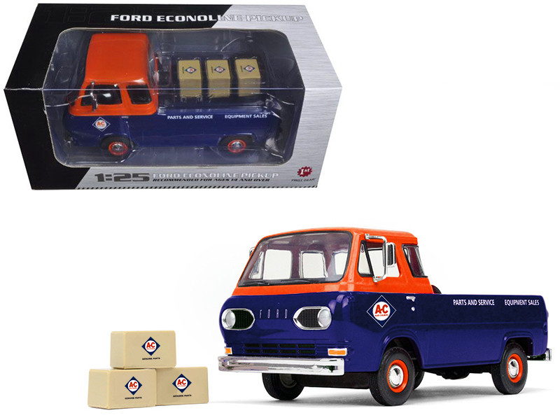 1960\'s Ford Econoline Pickup with Boxes Allis-Chalmers Parts & Service 1/25 Diecast Model Car by First Gear