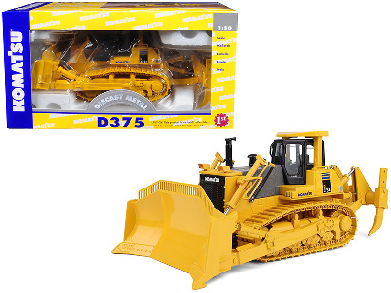 Komatsu D375A Crawler Dozer with Blade & Ripper 1/50 Diecast Model First Gear 50-0216