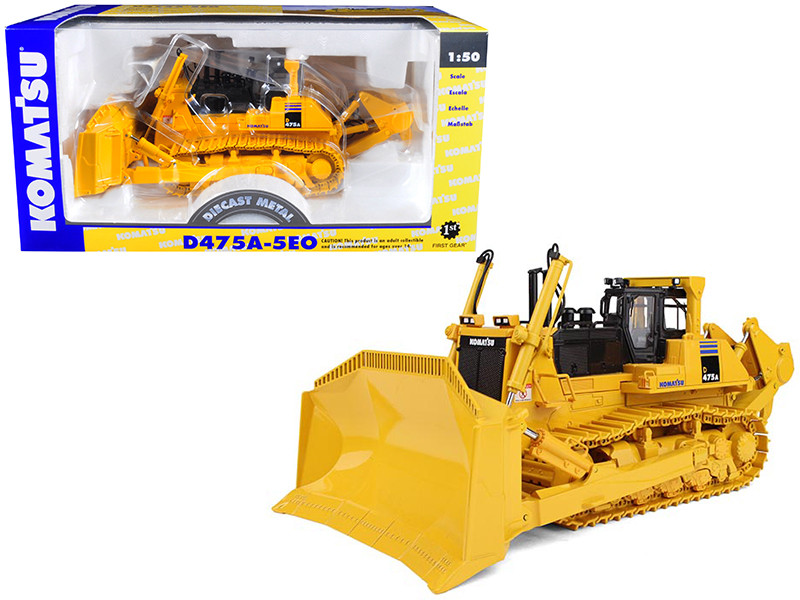 Komatsu D475A-5EO Dozer with Ripper 1/50 Diecast Model First Gear 50-3230