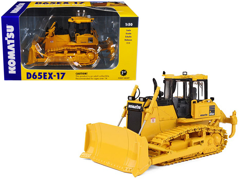 Komatsu D65EX-17 Sigmadozer with Ripper 1/50 Diecast Model First Gear 50-3245