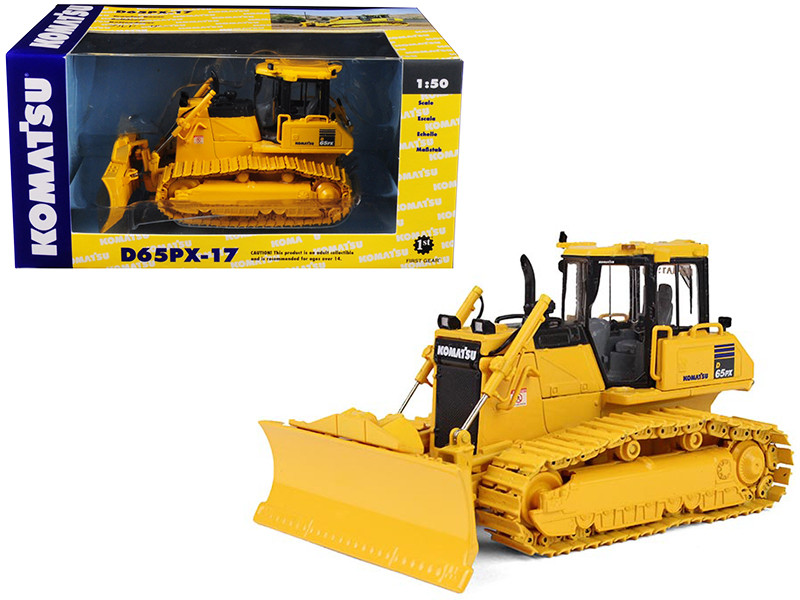 Komatsu D65PX-17 Dozer with Hitch 1/50 Diecast Model First Gear 50-3246