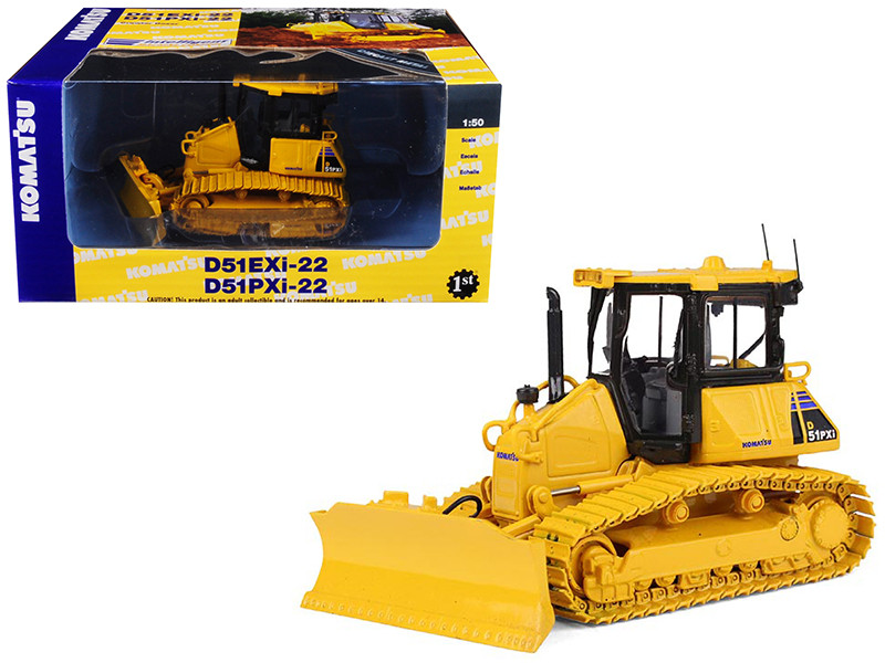 Komatsu D51PXi-22 Dozer with Hitch 1/50 Diecast Model First Gear 50-3283