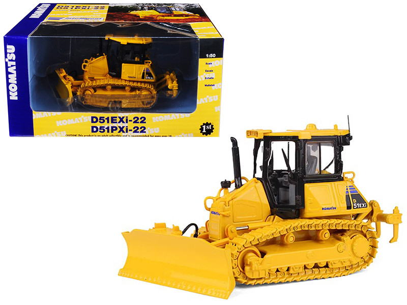 Komatsu D51EXi-22 Dozer With Ripper 1/50 Diecast Model First Gear 50-3291