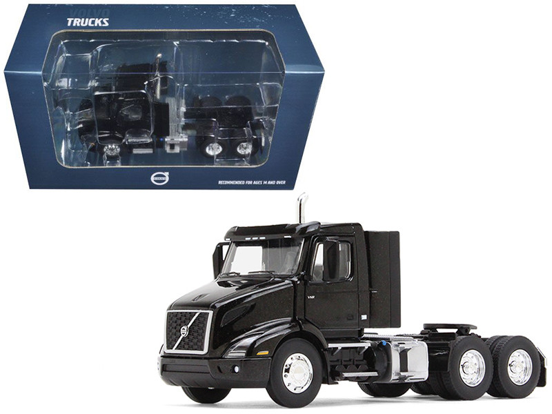 Volvo VNR 300 Day Cab Sable Black Metallic 1/50 Diecast Model Car First Gear 50-3363