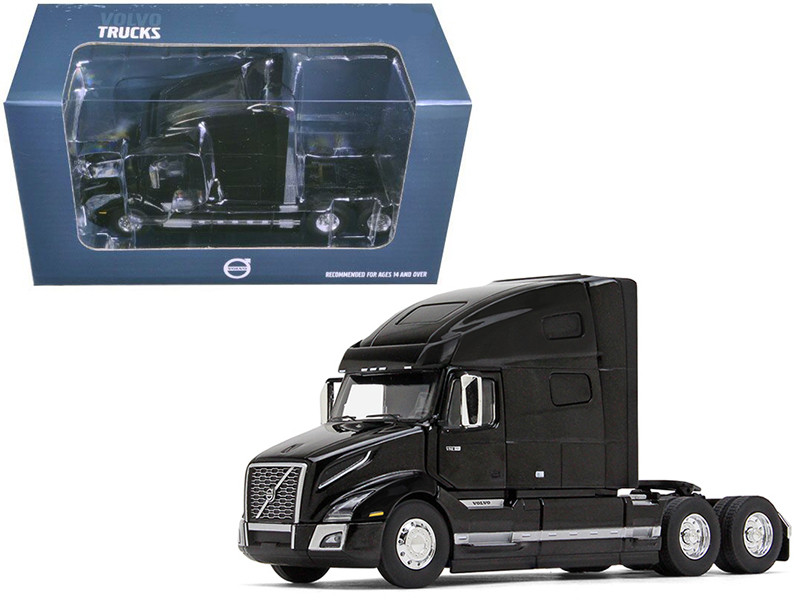 Volvo VNL 760 Sleeper Cab Sable Black Metallic 1/50 Diecast Model Car First Gear 50-3369