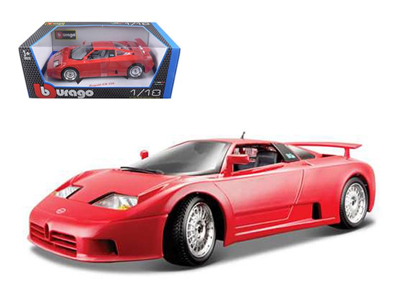 Bugatti EB 110 Red 1/18 Diecast Model Car Bburago 12023