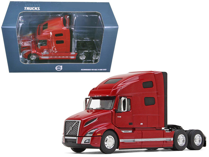 Volvo VNL 760 Sleeper Cab Cherry Bomb Red Metallic 1/50 Diecast Model Car First Gear 50-3371