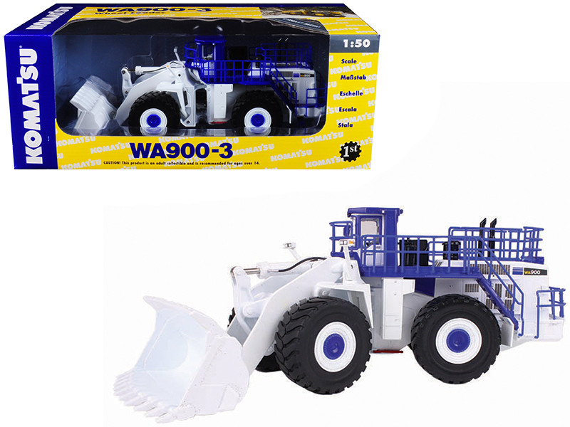 Komatsu WA900-3 Wheel Loader White Demo 1/50 Diecast Model First Gear 59-3338