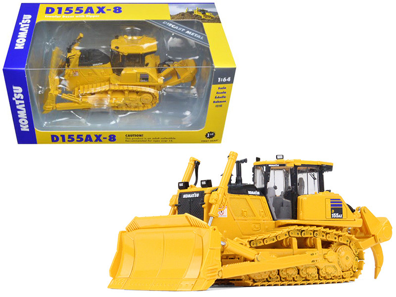 Komatsu D155AX-8 Sigmadozer with Ripper 1/64 Diecast Model Car First Gear 60-0325