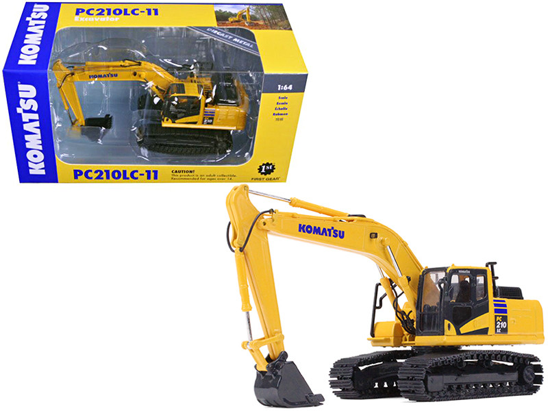 Komatsu PC210LC-11 Excavator 1/64 Diecast Model First Gear 60-0326