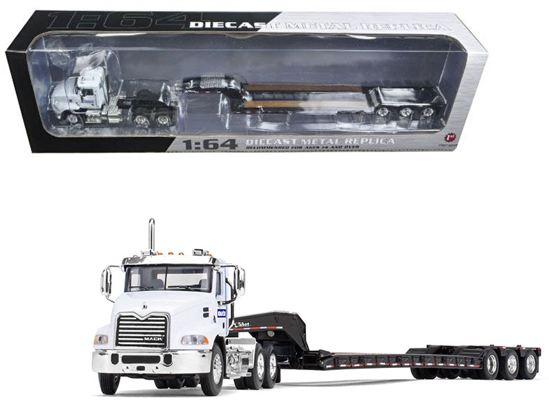 Mack Pinnacle with Axle Lowboy Trailer Komatsu 1/64 Diecast Model First Gear 60-0347