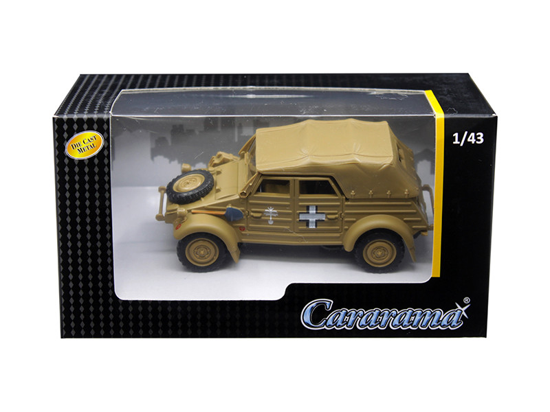 Volkswagen Kubelwagen Soft Top K Type 82 Tan 1/43 Diecast Model Car Cararama 4-90750