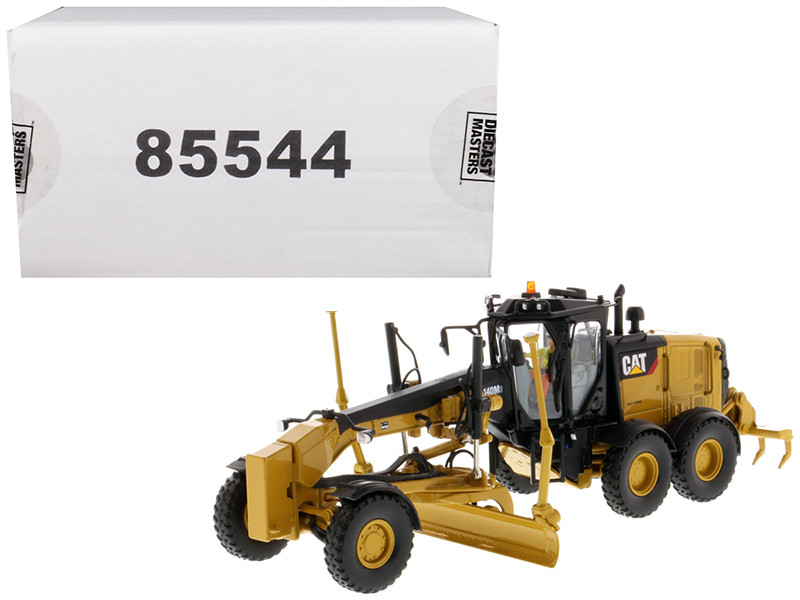 CAT Caterpillar 140M3 Motor Grader with Operator High Line Series 1/50 Diecast Model Diecast Masters 85544