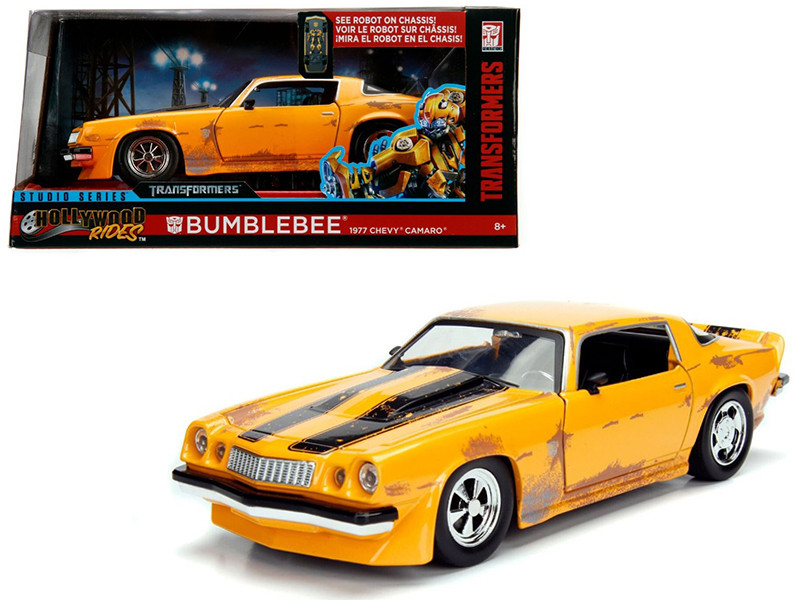1977 Chevrolet Camaro Concept Bumblebee Yellow from Transformers Movie Hollywood Rides Series 1/24 Diecast Model Car Jada 99383