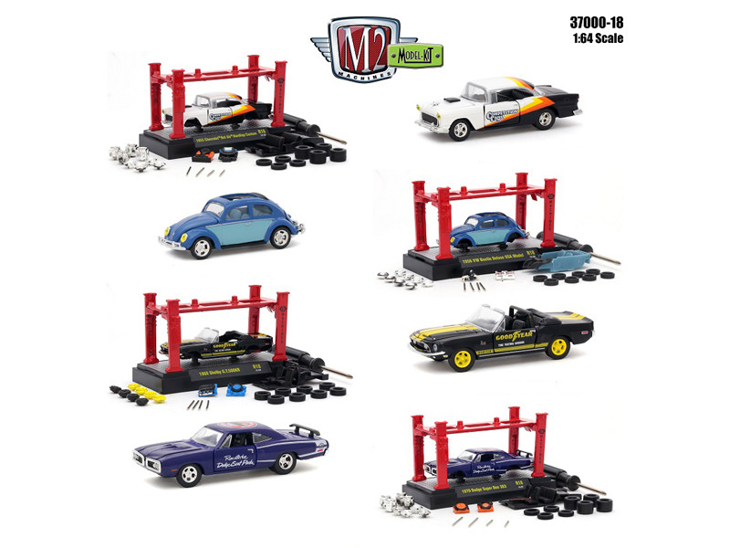 Model Kit 4 pieces Set Release 18 1/64 Diecast Model Cars M2 Machines 37000-18