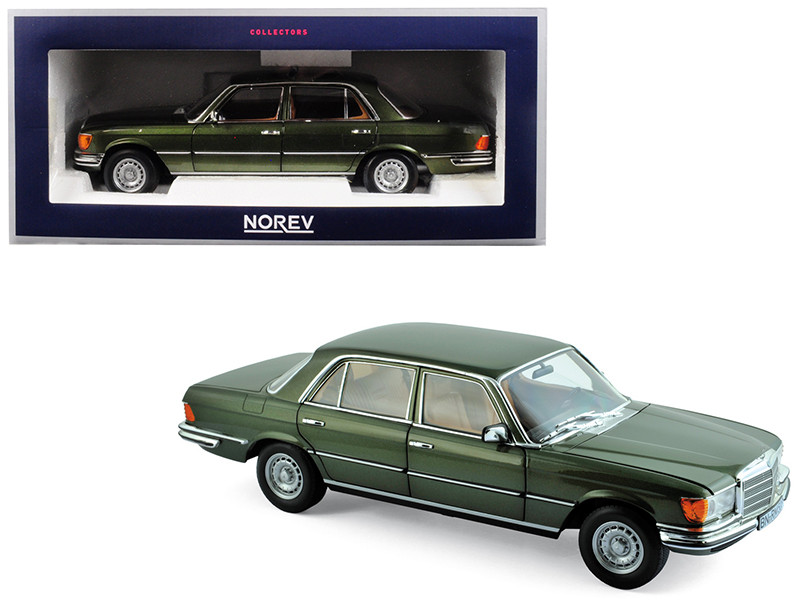 1976 Mercedes Benz 450 SEL 6.9 Green Metallic 1/18 Diecast Model Car Norev 183455