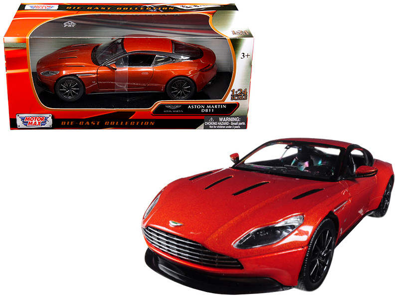 Aston Martin DB11 Copper Orange 1/24 Diecast Model Car Motormax 79345