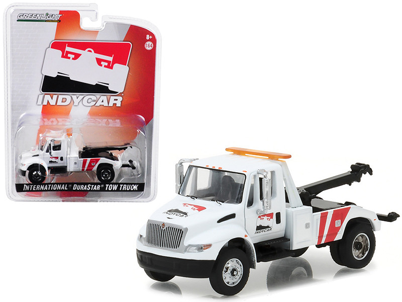 International Durastar 4400 IndyCar Series Tow Truck White 1/64 Diecast Model Greenlight 29952
