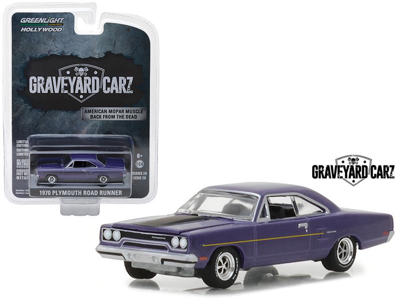 1970 Plymouth Road Runner Purple Graveyard Carz 2012 TV Series Hollywood Series 20 1/64 Diecast Model Car Greenlight 44800 D