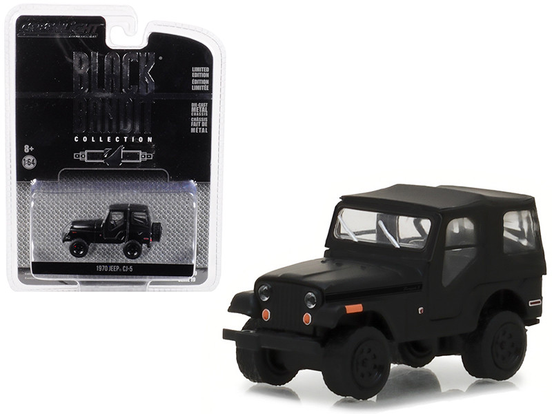 1970 Jeep CJ-5 Black Bandit Series 19 1/64 Diecast Model Car Greenlight 27950 D