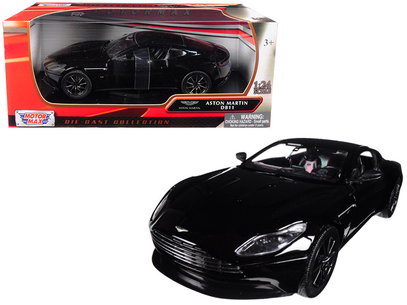 Aston Martin DB11 Black 1/24 Diecast Model Car Motormax 79345