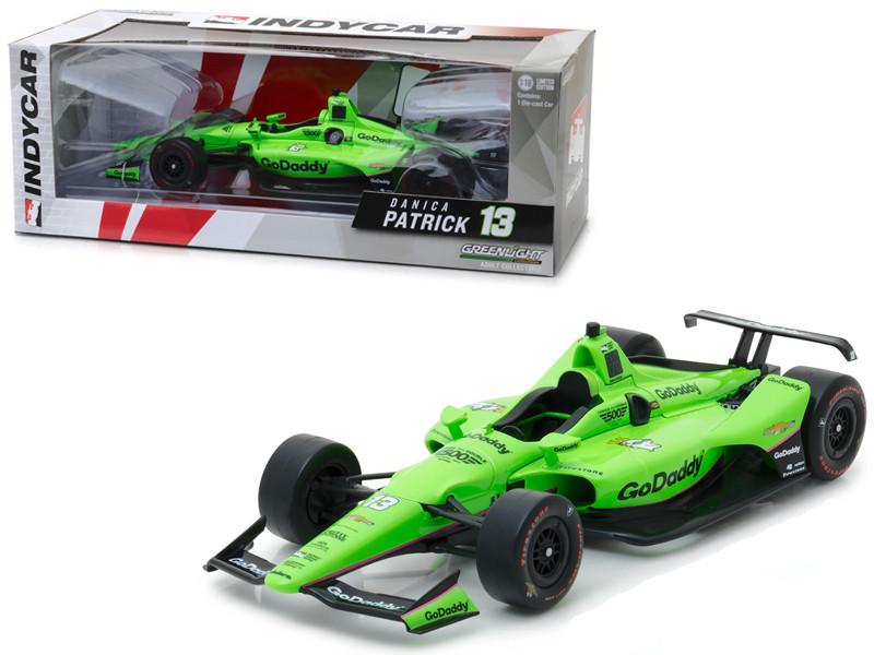 2018 IndyCar #13 Danica Patrick Go Daddy Ed Carpenter Racing 1/18 Diecast Model Car Greenlight 11044