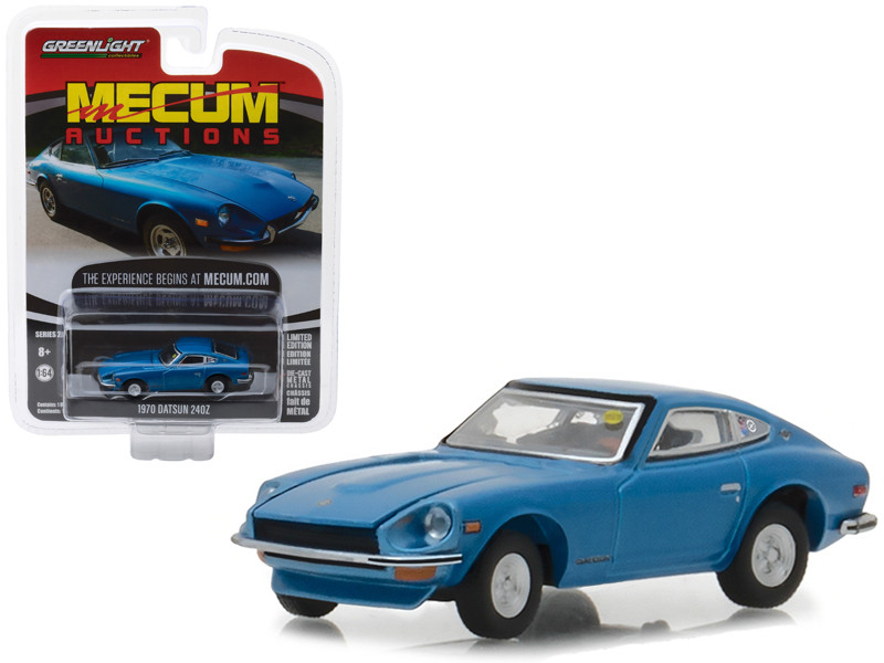 1970 Datsun 240Z Blue (Seattle 2014) Mecum Auctions Collector Series 2 1/64 Diecast Model Car by Greenlight
