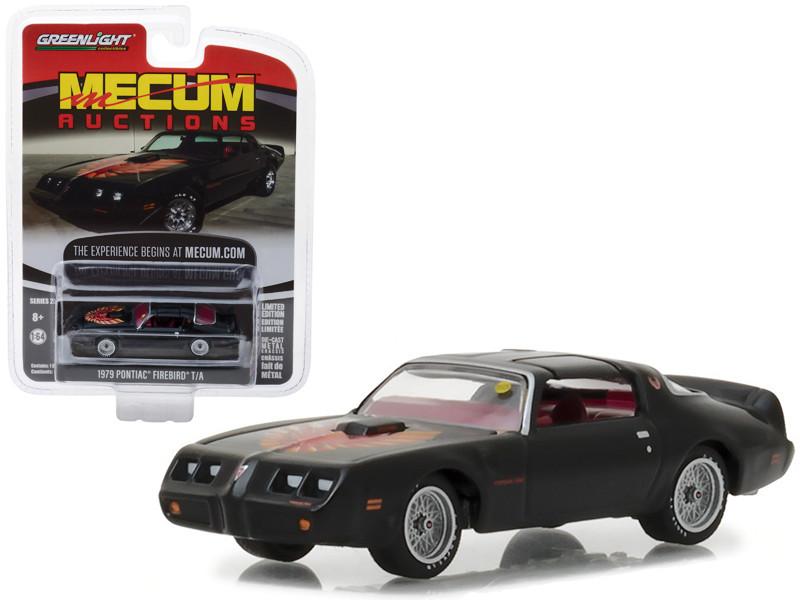 1979 Pontiac Firebird Trans Am Black Kissimmee 2017 Mecum Auctions Collector Series 2 1/64 Diecast Model Car Greenlight 37140 F